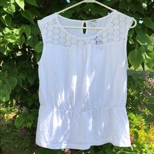 Sleeveless Top with Crochet Detail